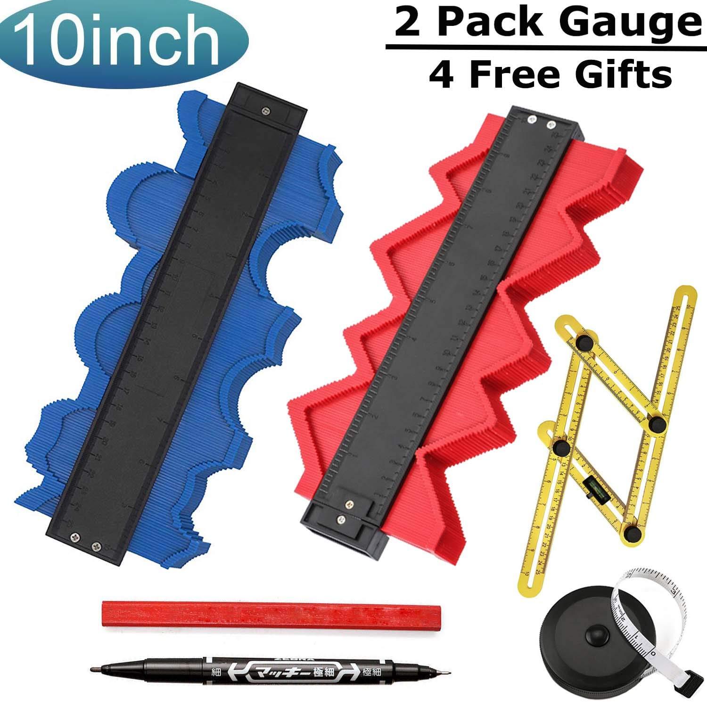 Contour Gauge with Lock Profile Gauge 10 Inch 25cm Plastic Woodworking Shape Tracing Template Measuring Tool Precisely Copy Irregular Shapes Profile Copy Gauge Tool