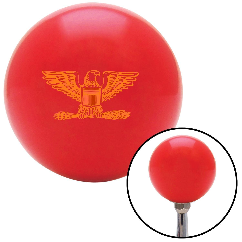 American Shifter 97748 Red Shift Knob with M16 x 1.5 Insert Orange Colonel