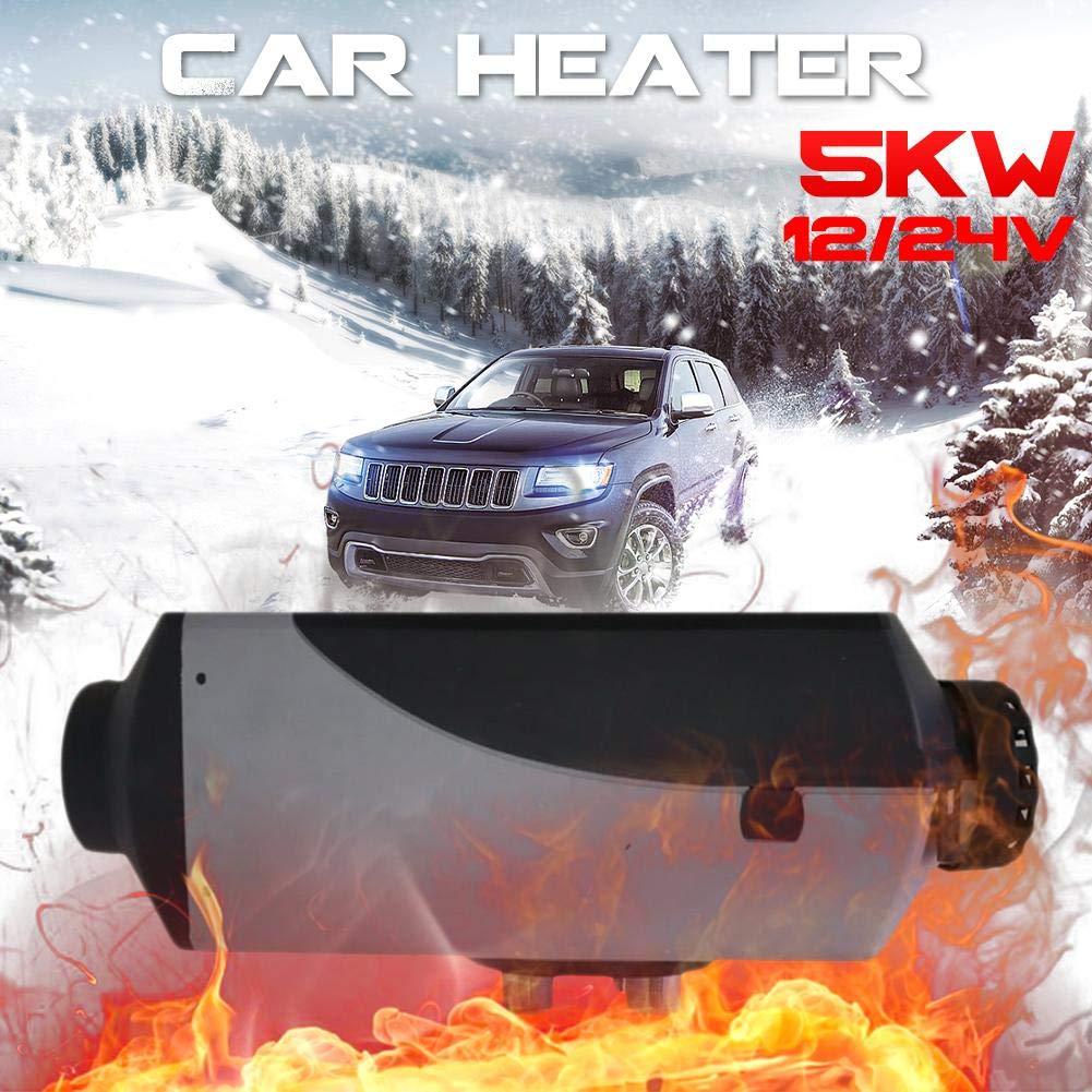 lennonsi Diesel Air Heater Air Diesel 5KW 12V / 24V Aria Diesel Riscaldatore riscaldatore con Telecomando Display LCD RV, rimorchio da Campeggio, Camion, Barca