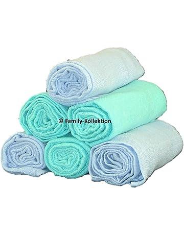 Pañal de gasa (6 unidades multicolor plástico pañales Vómitos 70 x 80 Nuevo. 100