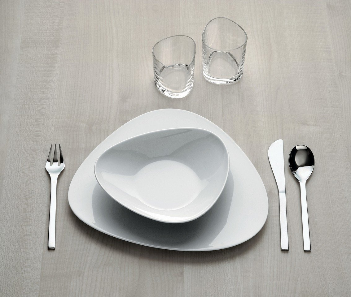 Colombina Porcelain 7.28'' Large Saucer [Set of 6] Color: White