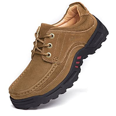 HUMGFENG Men's Casual Walking Shoes Made With Superior Leather - Perfect  For Outdoor Activities, Work