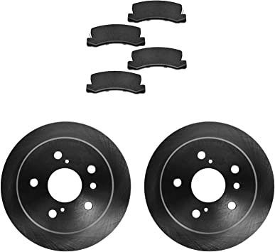 Ceramic Brake Pads For 1992 Toyota Camry Front eLine Plain Brake Rotors