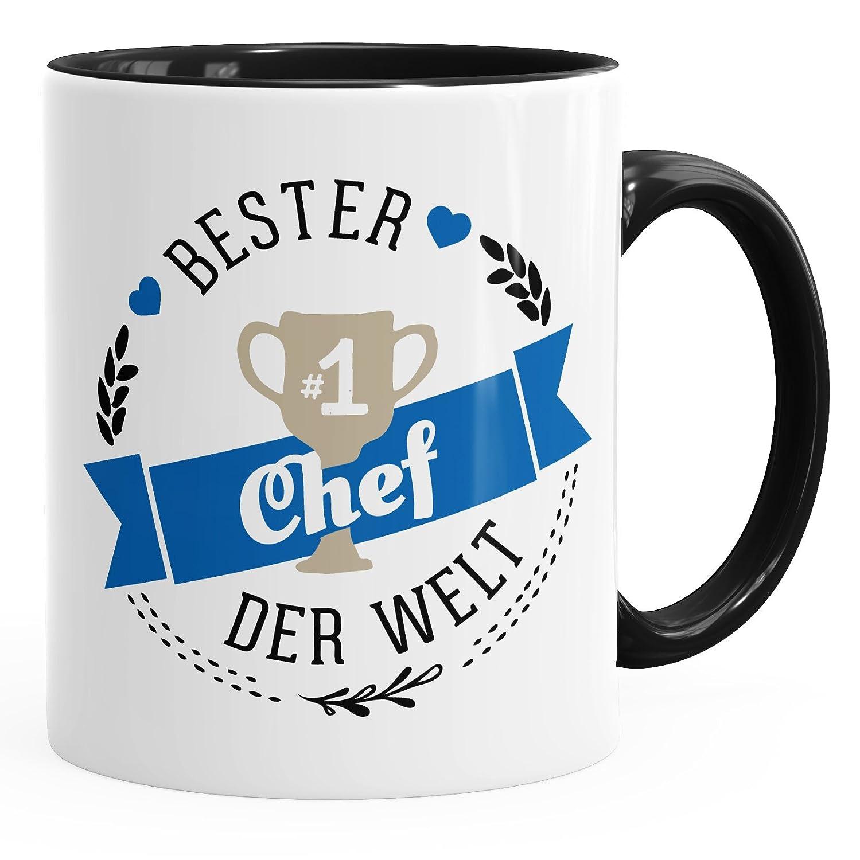 MoonWorks Kaffee-Tasse Chef der Welt Geschenk für Chef schwarz ...