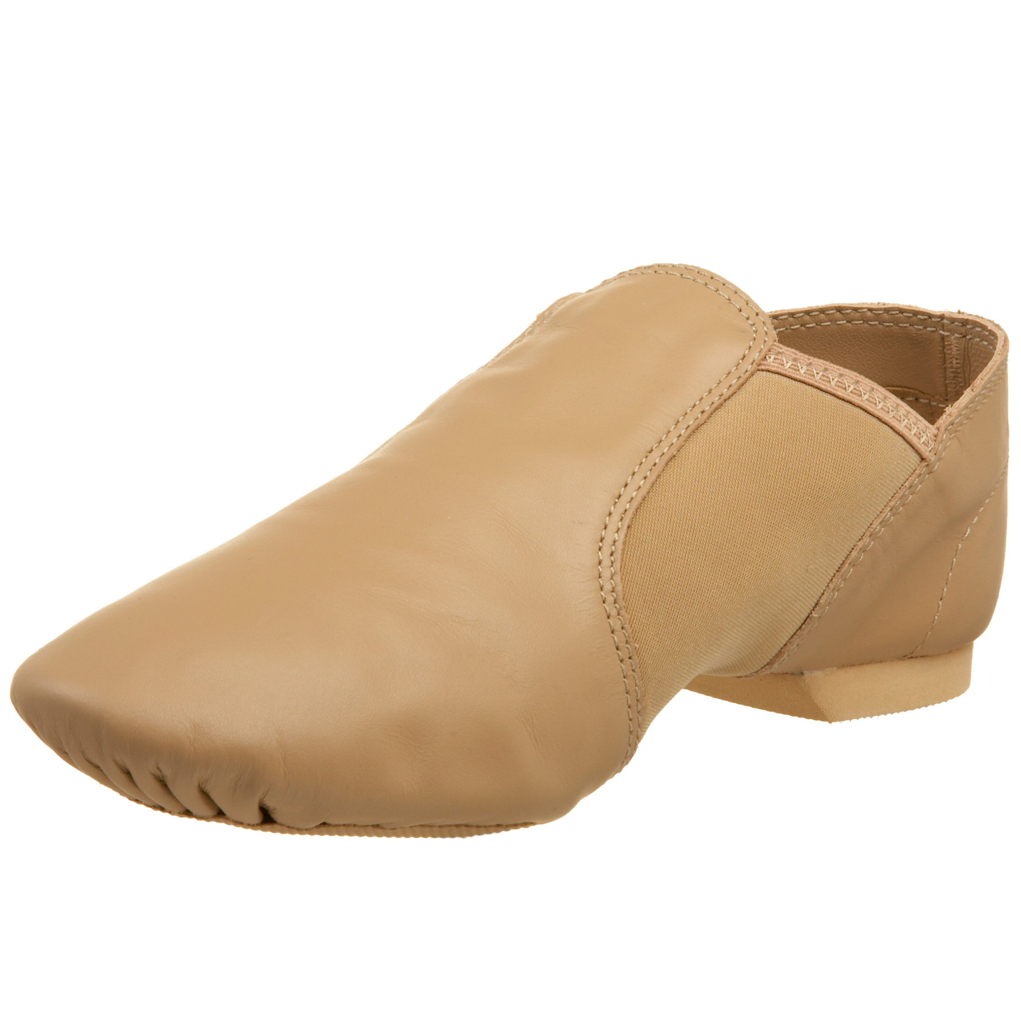 Capezio Women's Economy Jazz Slip On, Caramel, 9.5M US