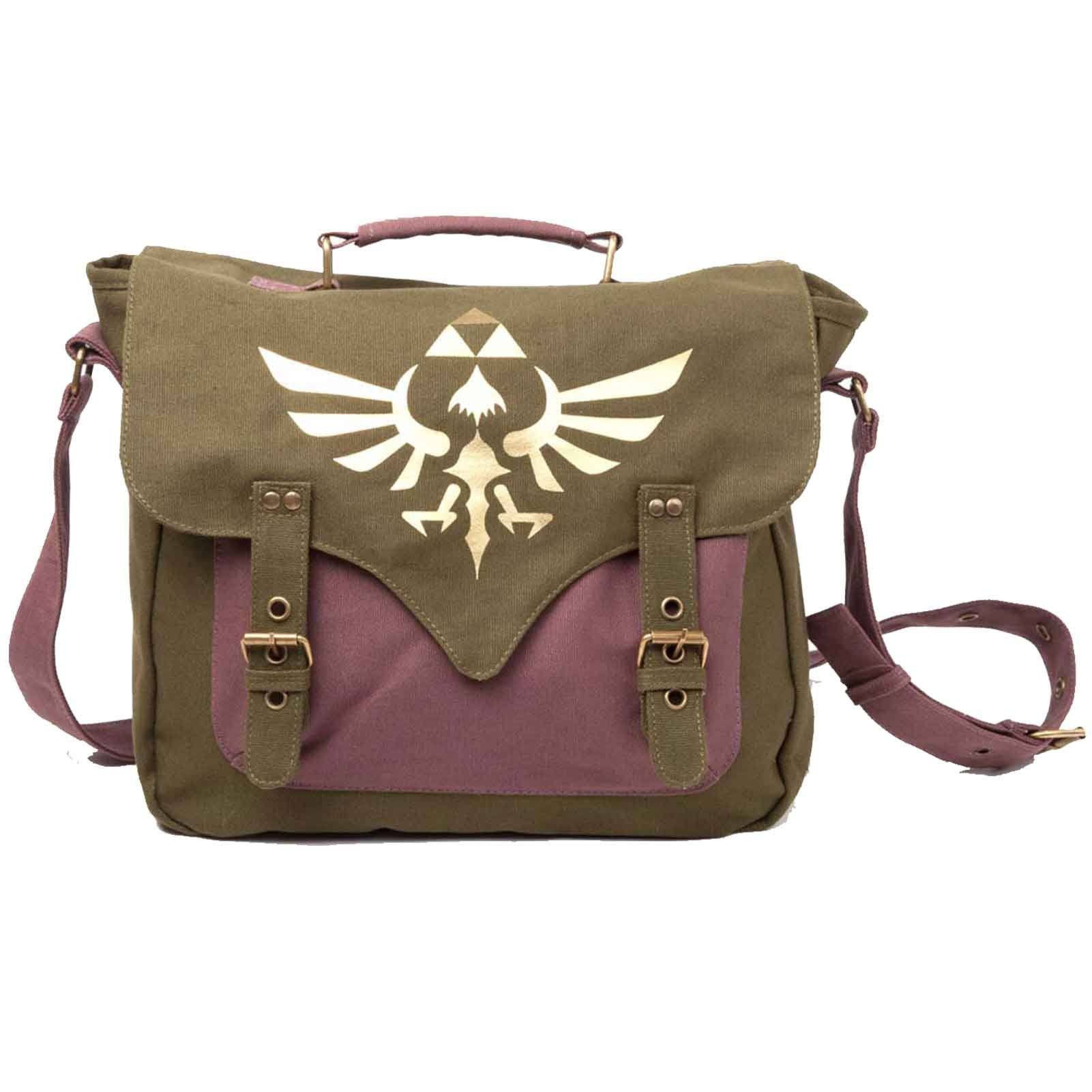 Legend Of Zelda Messenger Bag Golden Triforce Logo Skyward Sword Official