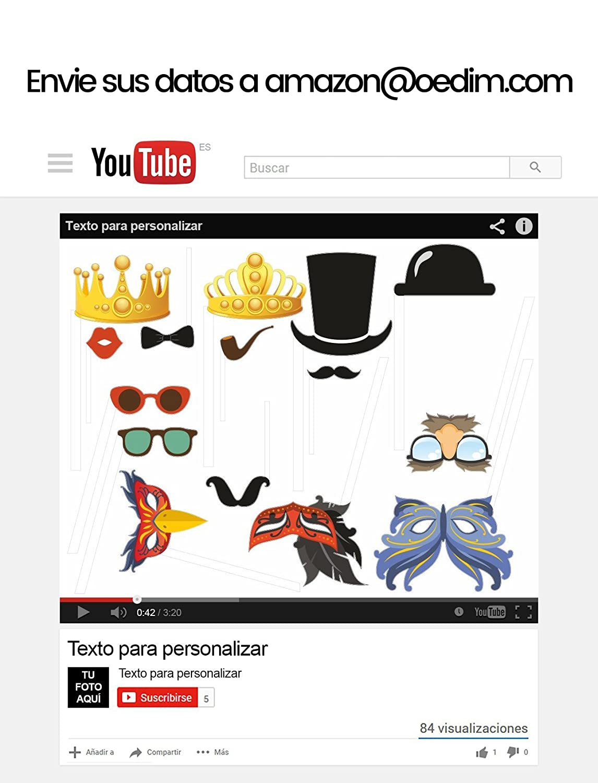 Cumplea/ños Marco Bautizos Photocall YouTube 100/% Personalizado para Eventos Bodas Medidas 100x120cm Photocall Divertido