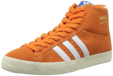 adidas Originals Basket Profi Mens Suede Sneakers Hi Tops-Orange-6 b4ef57260ed8b