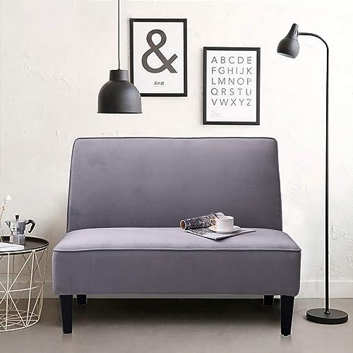 Linen Loveseat Sofa Couch Upholstered Small Loveseat