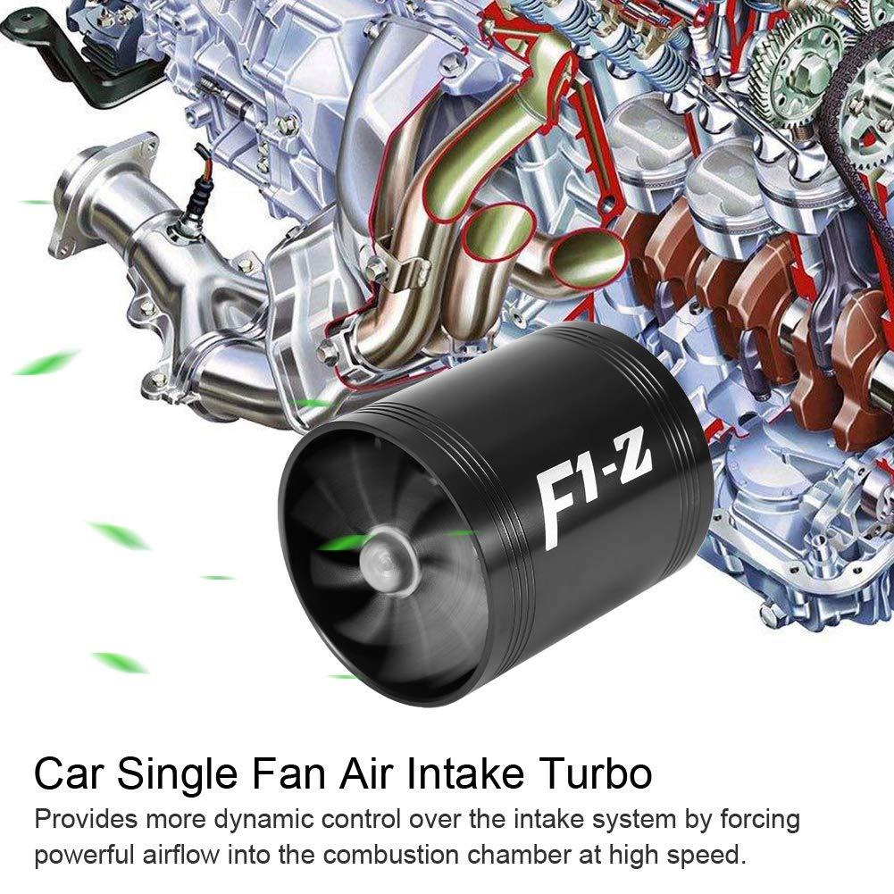 azul turbocompresor doble turbina de ventilador Supercharger Gas Saver de combustible Turbo Repuesto de Super Charger Saver Saver KIMISS Turbo de admisi/ón de aire del autom/óvil