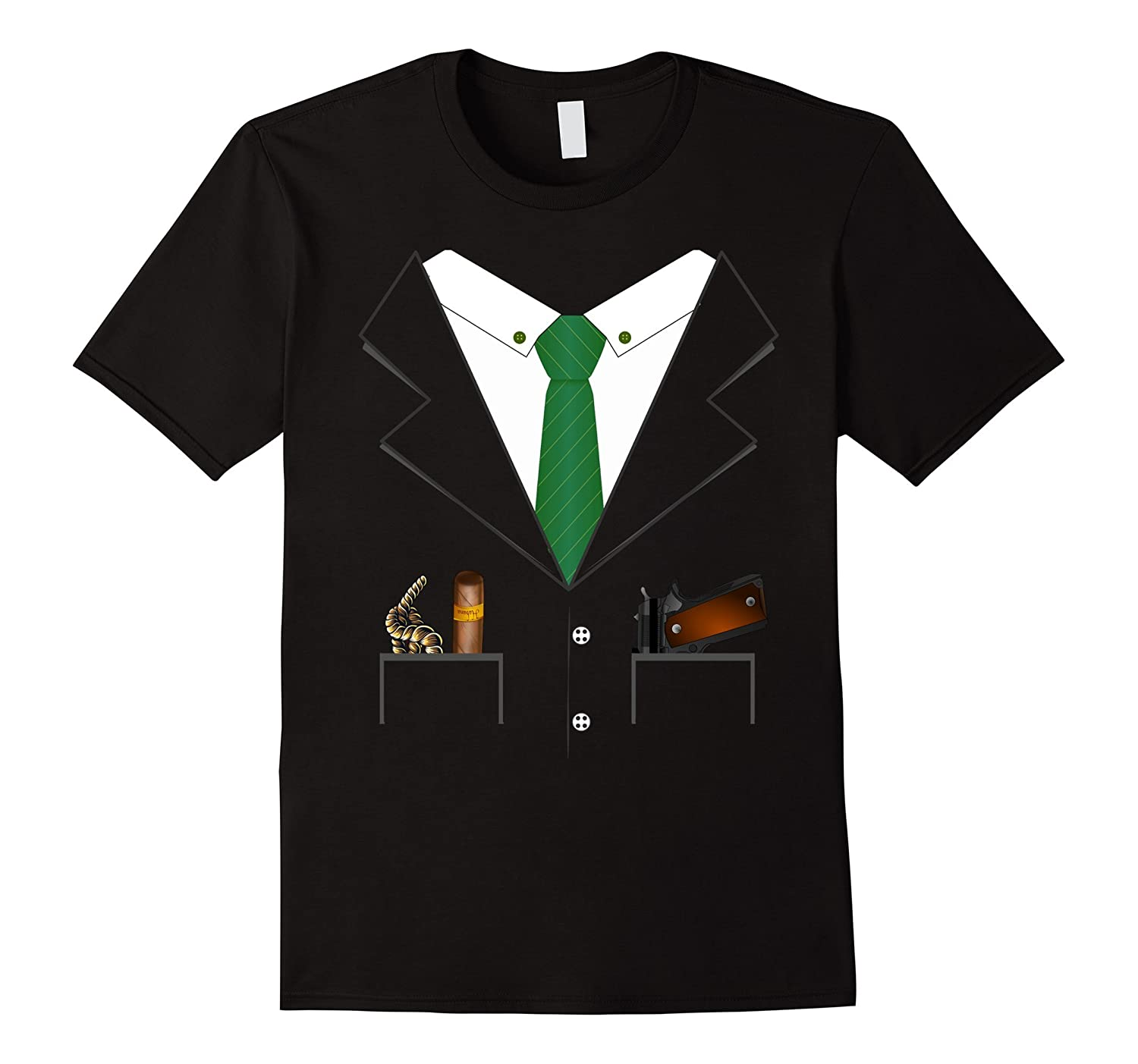 Gangster Mob Boss Hitman Halloween Costume T-shirt