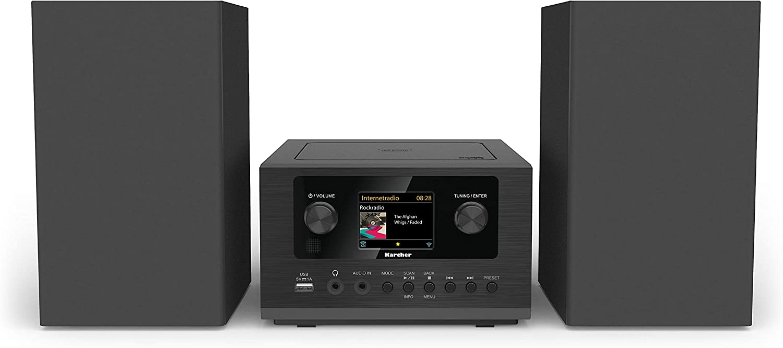 Karcher - Minicadena con Reproductor de CD FM, Dab+, Internet. Negro