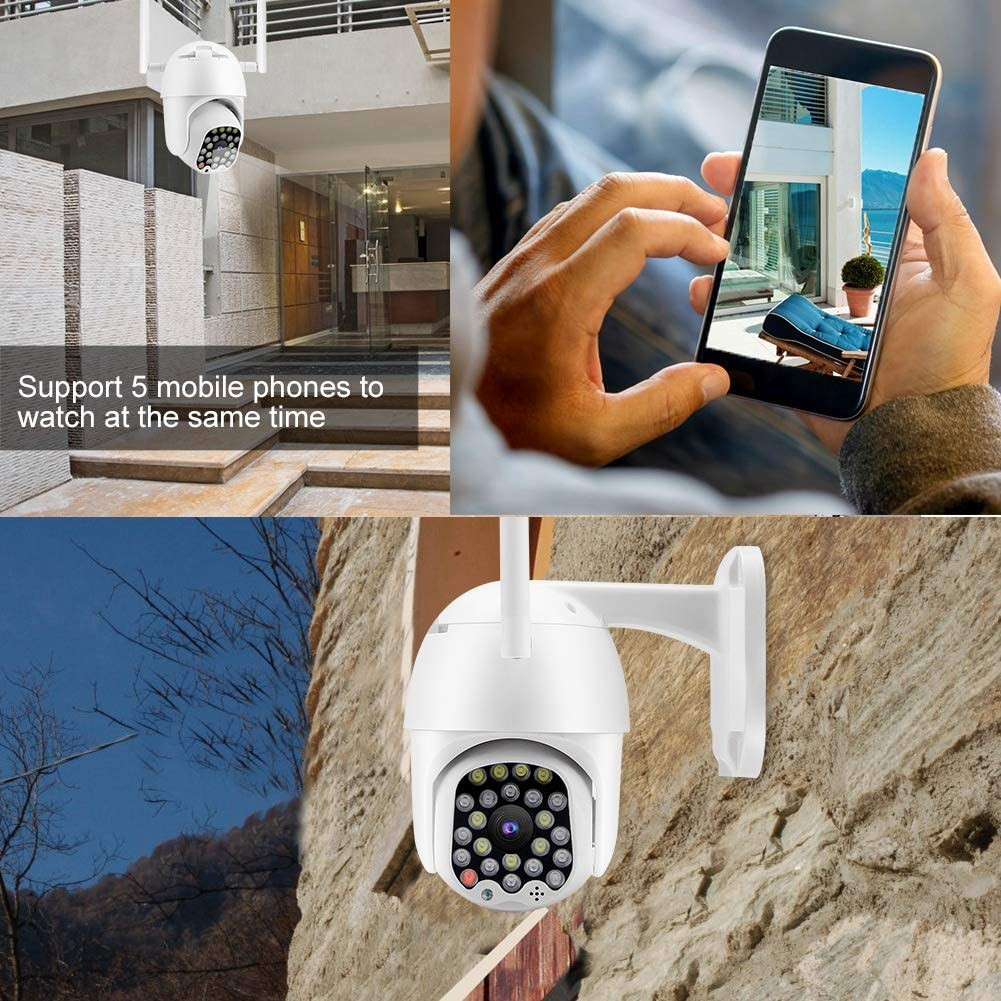 Tow-Way Audio IP Security Camera etc. US Office Hotel Motion Detection IP65 Waterproof Bullet IP Camera for Home 1080P 23 LED WiFi Outdoor Home Surveillance Cameras with Night Vision