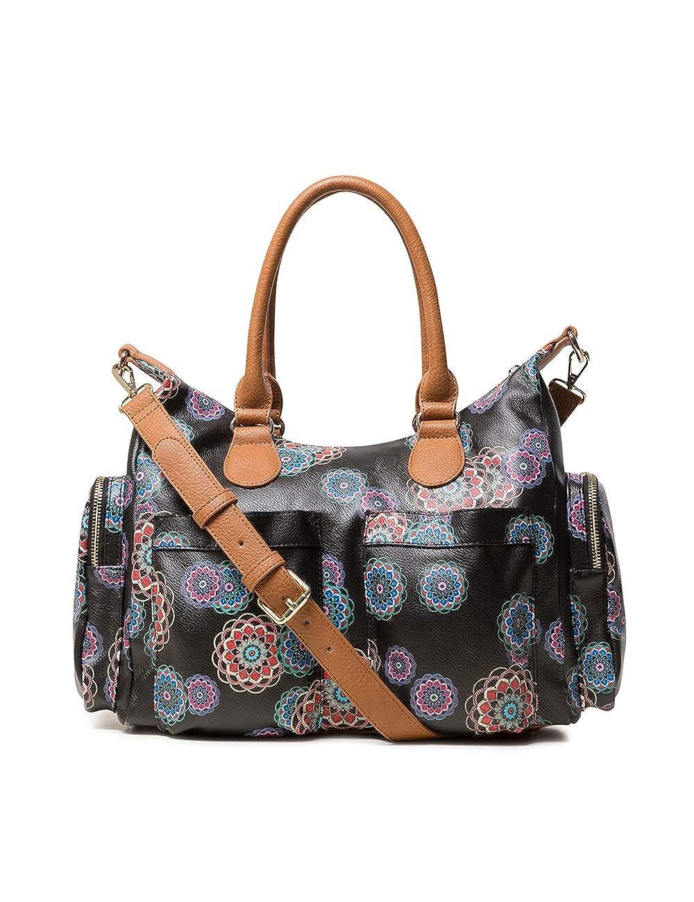 B x H T Negro Noir 15.5x25.5x32 cm Desigual Bag Mandri London Women Sacs port/és /épaule femme