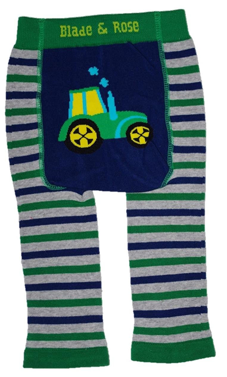 Blade & Rose Stripy Tractor Baby Leggings Blade and Rose