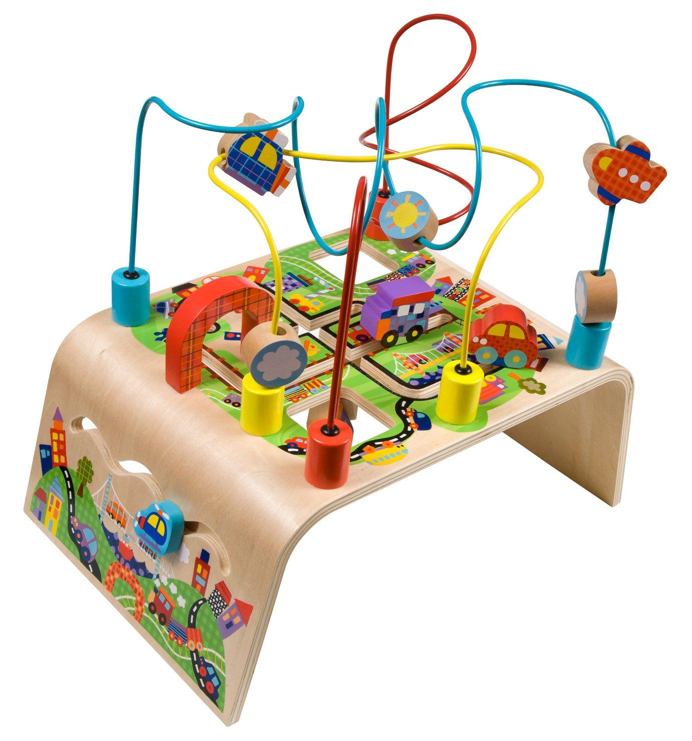 alex toys  alex jr busy bead maze race around  baby wooden  - alex toys  alex jr busy bead maze race around  baby wooden developmentaltoy z wood  amazon canada