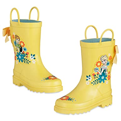 Amazon.com: Disney Store Frozen Anna Elsa Rain Boots: Clothing