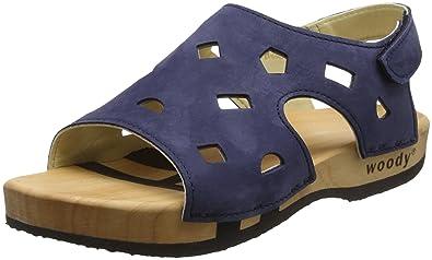 Woody Damen Jasmin Clogs, Blau (Abisso), 37 EU