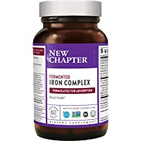 New Chapter Iron Supplement, Fermented Iron Complex (Formerly Iron Food Complex) with Organic Whole-Food Ingredients…