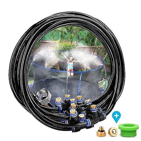 Landrip Sistema de refrigeración Mist, DIY Patio Mister; Kits de nebulización al Aire Libre para Greenhouse Garden Patio Gazebo Junto a la Piscina (26.2 ...