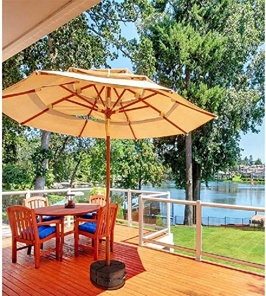 Umbrella Base Weight Bagweather Y UV Resistance Sand Bags Up To 85 Ponds of Sandfits Any Offset Outdoor Patio Umbrella Stan Negro.: Amazon.es: Hogar