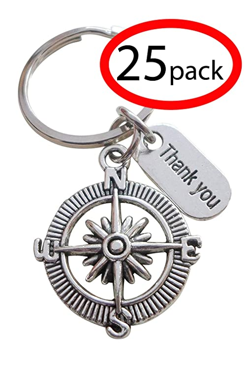 Amazon Appreciation Gift Keychain Thank You Compass Thank You