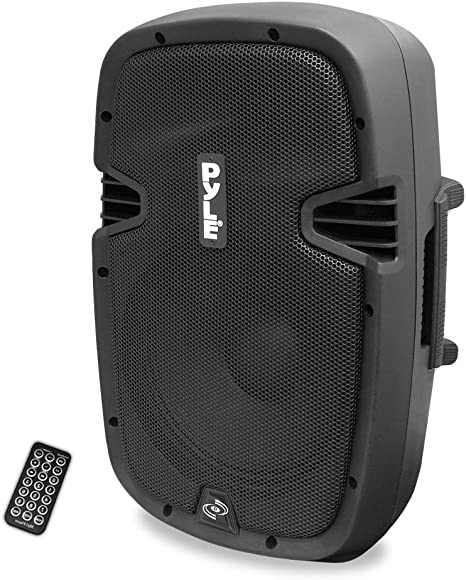 Powered Active PA Loudspeaker Bluetooth System - 10 Inch Bass Subwoofer Monitor Speaker and Built-in USB for MP3 Amplifier, DJ Party Portable Sound ...