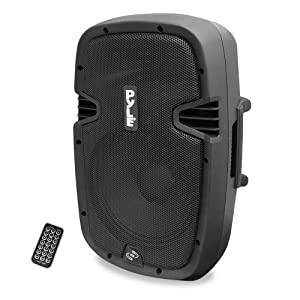 Powered Active PA Loudspeaker Bluetooth System - 10 Inch Bass Subwoofer Monitor Speaker and Built-in USB for MP3 Amplifier, DJ Party Portable Sound Equipment Stereo Amp Sub for Concert Audio or Band Music- Pyle PPHP1037UB