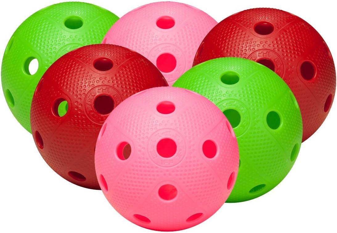FAT PIPE - Juego de 6 bolas para jugar al floorball, colore ...