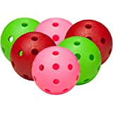 FAT PIPE Floorball / Unihockey Set di 6 palle - COLOR MIX, Matchball ufficiale
