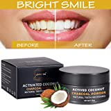Carbone Attivo Denti,Charcoal Powder,Activated Charcoal Teeth Whitening Powder,Sbiancamento Denti Carbone Attivo Naturale,di polvere di carbone attivo - Effective Against Bad Breath, Cavity, Stain, Plaque,Gingivitis,Soft Powder for Sensitive Teeth,Freshens Breath and Improves Oral Health. No need for Strips, Kits or Gel
