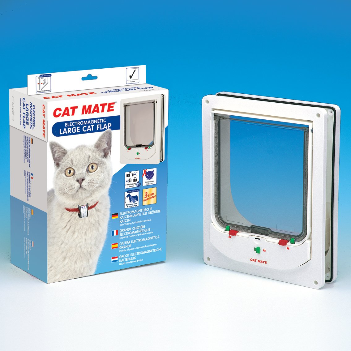 Cat Mate Electromagnetic Large Cat Or Small Dog Door White Pet