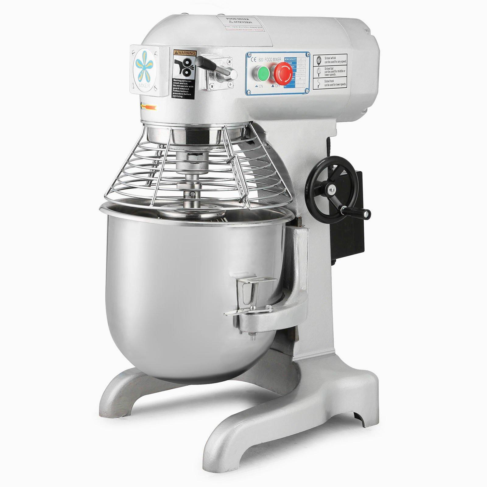Forkwin Dough Mixer 750W Food Mixer 20L Dough Mixer Machine with 3 Speeds Adjustable Food Mixer Electric for Cream Cake Stuffing Dough