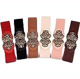 AWAYTR Wide Stretchy Belts for Women - Retro