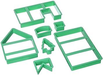 Staedter Molde para galletas con forma de casa, 7 piezas: Amazon.es: Hogar