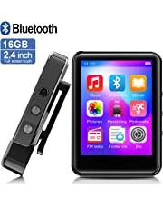 $27 » MP3Player, MP3 Player with Bluetooth, 16GB Portable Music Player with FM Radio/Recorder, HiFi Lossless Sound Quality, 2.4Inch Touch Screen Mini MP3 Player for Running, Expandable 128GB TF Card, Black