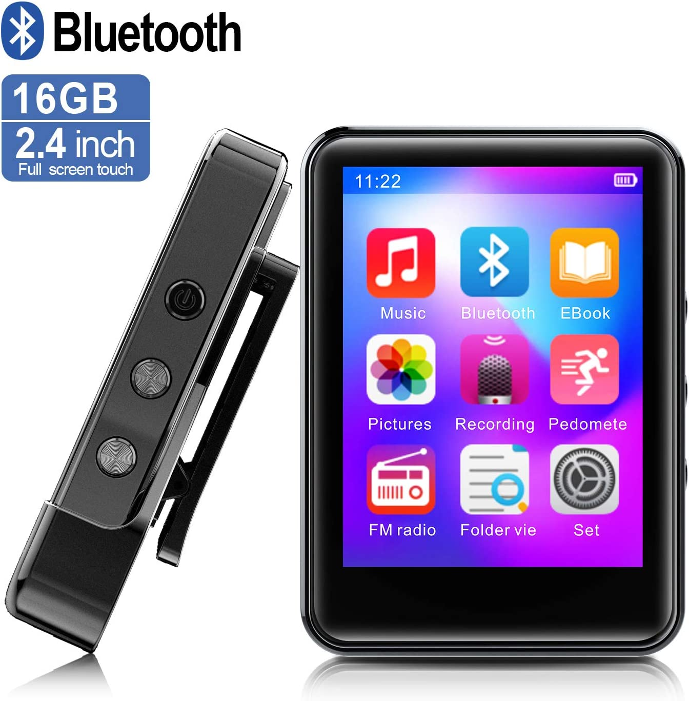 FDY MP3Player, MP3 Player with Bluetooth For Running