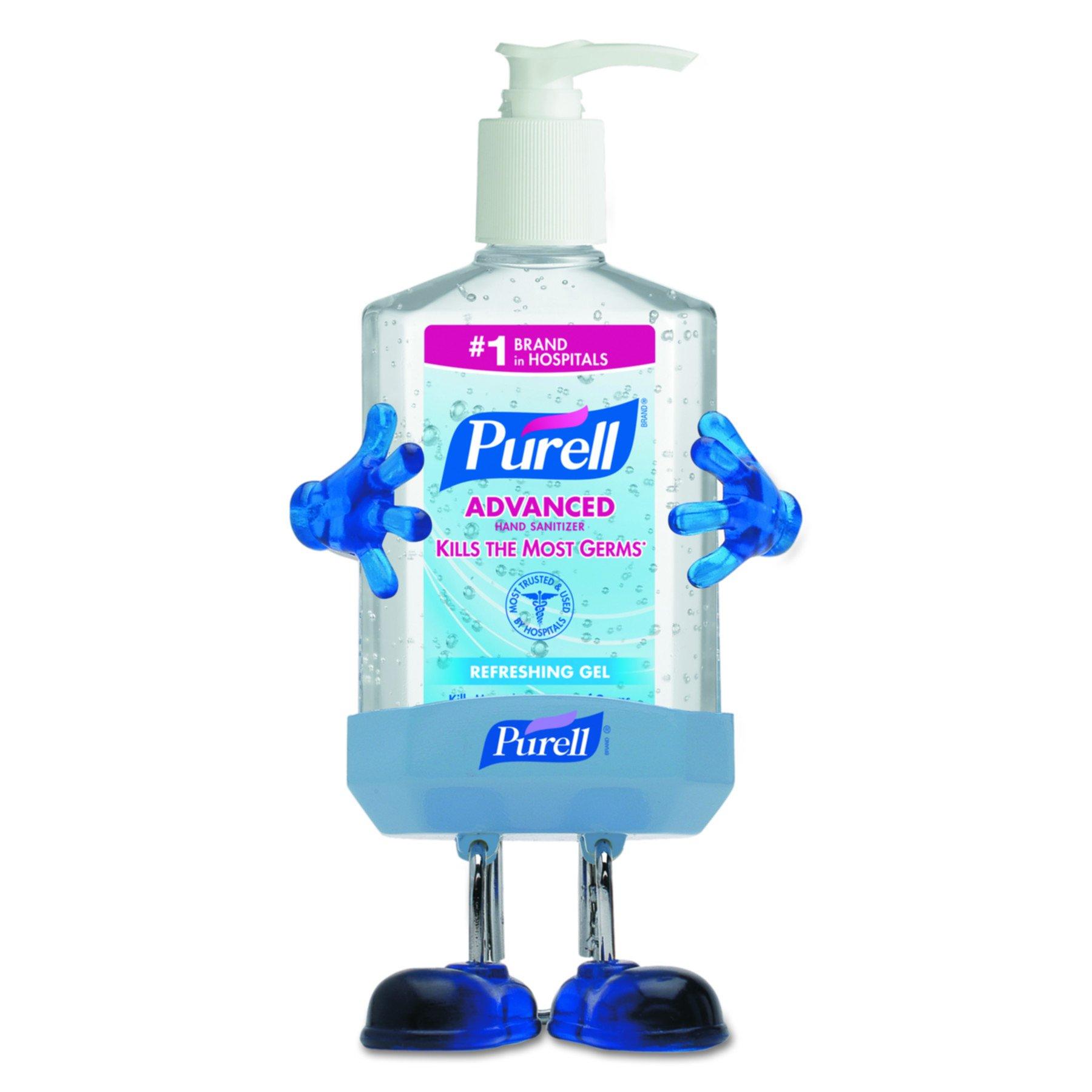 PURELL 9600PL1CT Pal Instant Hand Sanitizer Desktop Dispenser w/8oz Pump Bottle, 3wx3 1/2dx8 1/2h (Case of 12) by Purell