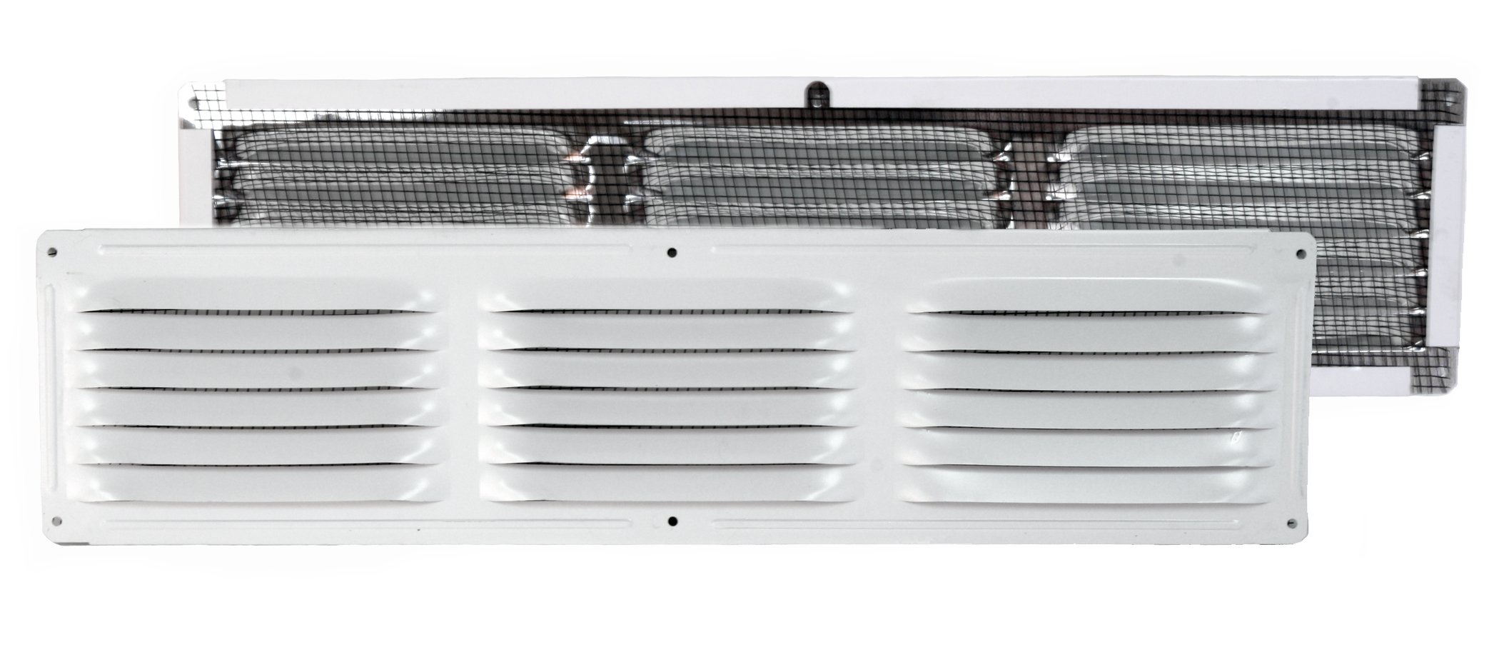 Ventamatic CX64WH 4-Inch by 16-Inch Aluminum Undereave Screened Vent, 24-Pack, White