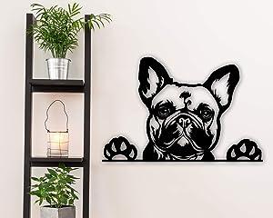 Tamengi French Bulldog Metal Art - Dog Metal Wall Decor - French Bulldog Metal Sign - Dog Wall Art - Pet Decor - Dog House Decor