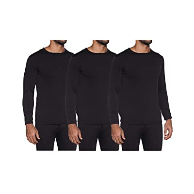 1 & 3 Pack: Men's Ultra-Soft Long Sleeve Crew Neck Thermal Shirt - Fleece Lined Compression Baselayer Top Underwear at Men's Clothing store