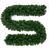 BullStar 9 Feet Christmas Decorations Christmas Garland Artificial Wreath with Berries and Pinecones Xmas Decorations…