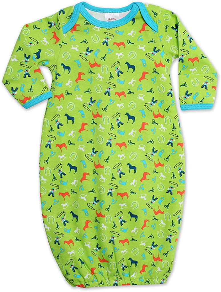 Zutano Unisex Baby CowBoys Gown