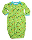 Zutano Unisex-Baby Infant Cowboys Gown, Lime, 9 Months
