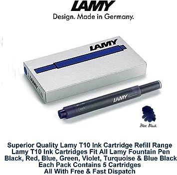 Lamy T10 Black Ink Cartridges 4 Packs of 5