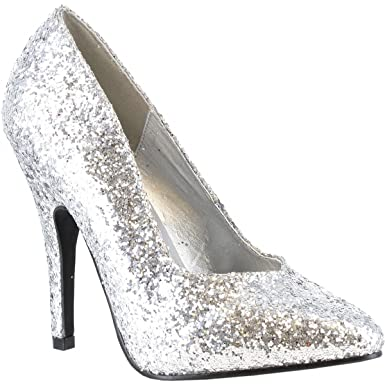 350c163ce46 Amazon.com  511-Glitter Adult Shoes Silver - Size 9  Clothing