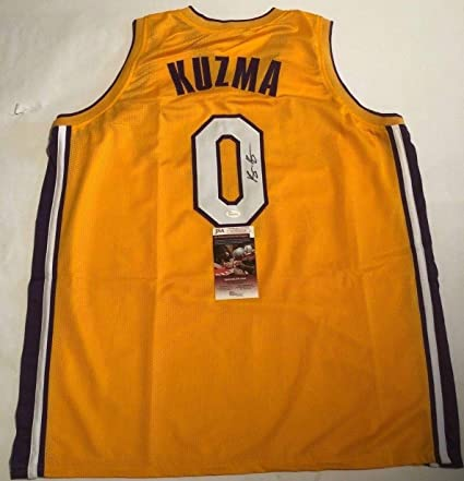 new style 9b5bd b758e Kyle Kuzma Lakers Autographed Signed Custom Kuzma Kid Jersey ...