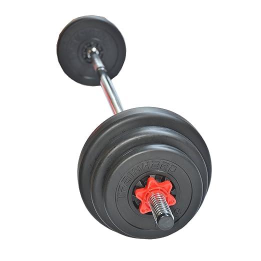 TrainHard 1F12218 - Juego de barra con pesas (20 kg): Amazon.es: Deportes y aire libre