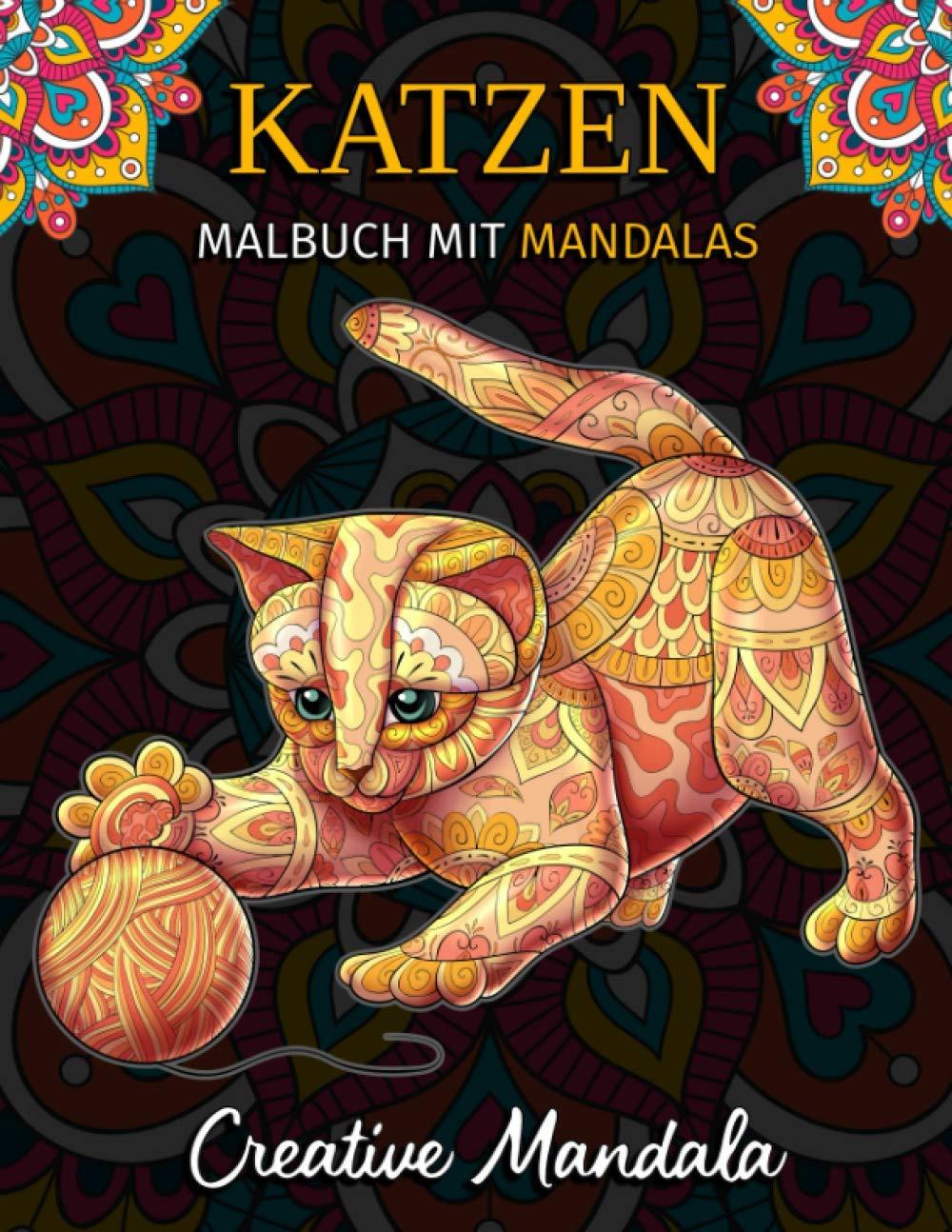 Katzen Malbuch mit Mandalas: Malbuch für Erwachsene mit 22