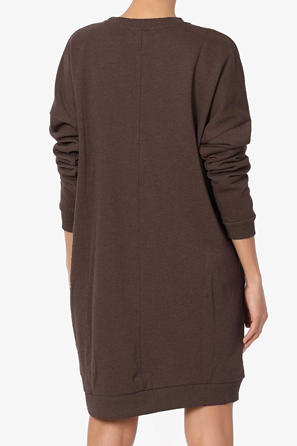 8fb7a9685e2 TheMogan Casual Oversized Crew V Neck Sweatshirts Loose Fit Pullover Tunic  S~3XL at Amazon Women's Clothing store: